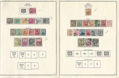 Egypt Collection 1866-1959 on 42 Minkus Specialty Pages