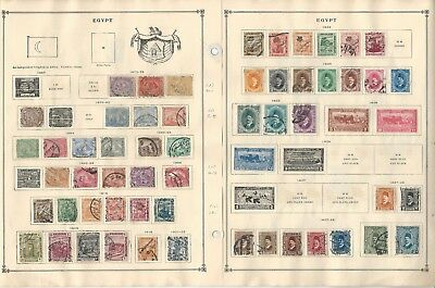 Egypt & Eritrea Collection 1867 to 1940 on 11 Scott International Pages