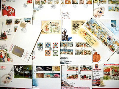 18 Isle of Man First Day Covers 1994-1996  Beautiful Stamps and Covers