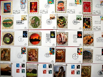5 Sets  Benham Small Silks First Day Covers 1989 - 20 covers in total