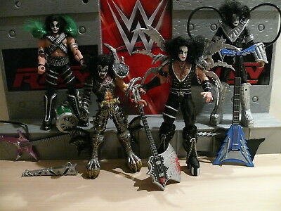 Mcfarlane Toys - All 4 Members Of Kiss Action Figures Collection Gene Simmons