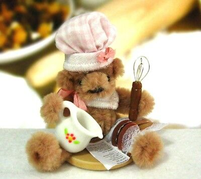 Miniature Bear OOAK Pipe Cleaner Bake Off Bear with Whisk and Jug ID4101
