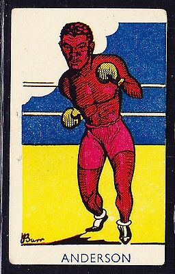 A & J Donaldson SPORTS FAVOURITES 1953 #266 Boxing Card Cliff Anderson *VG Cond*