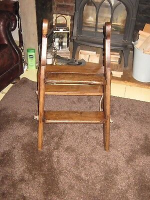 Vintage Wooden Steps/Wooden Step Ladder/Library Steps