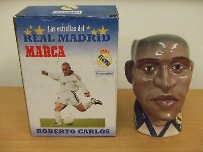 Roberto Carlos: Real Madrid: Ceramic Toby Jug/coffe Cup: Marca: Very Unusual !!!