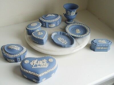 Job Lot Of Wedgwood Jasper Ware Made In England (9 Pieces)