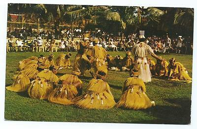 Colour Postcard of Tahitian Dance