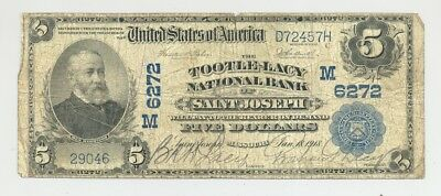 1902 $5 National Banknote from Charter 6272 Saint Joseph, Missouri no reserve