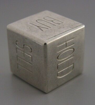 UNUSUAL TIFFANY & Co GENUINE STERLING SILVER DECISION DICE LONDON 2007
