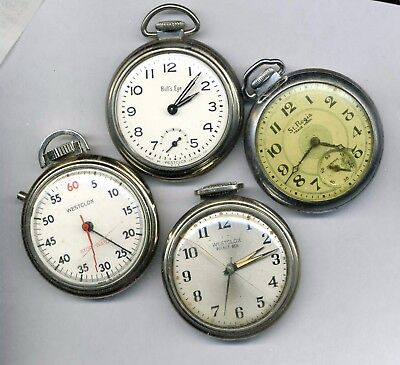 Westclox stop watch Bull's Eye Pocket Ben Ingraham St. Regis pocket watches