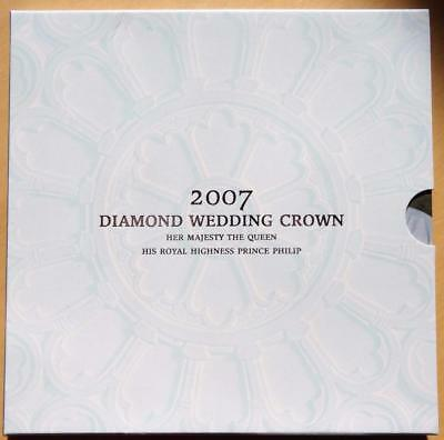 GB 2007 Diamond Wedding Crown £5.00 Coin in a Royal Mint Pack