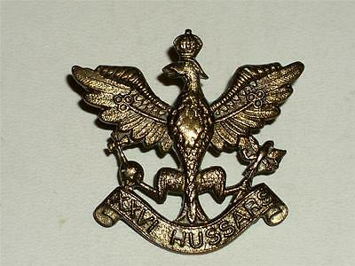 VINTAGE WW2 THE 26th HUSSARS MILITARY BRASS CAP BADGE!