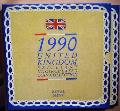 GB 1990 Uncirculated UK Royal Mint Coin Collection Pack