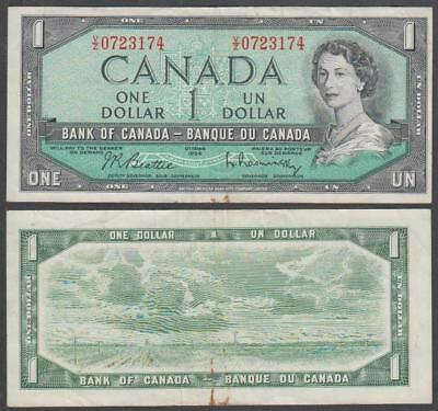 1954 Bank of Canada Queen Elizabeth II 1 Dollar