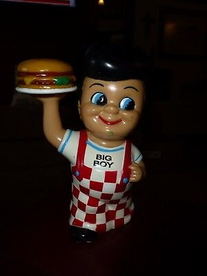 "Cute ""big Boy"" Restaurant Bank...boy Holding Plate With Hamburger...cute!"