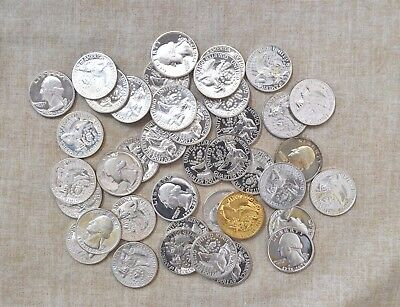 Roll Of 1976-S Silver Washington Quarters - Proof - 40 Coins