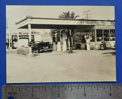 Vintage Bill Hall Union Oil Products  Gas Station Original Photo Snapshot