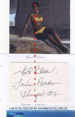 Trina Parks vintage signed card Thumper , Diamonds Are Forever AFTAL