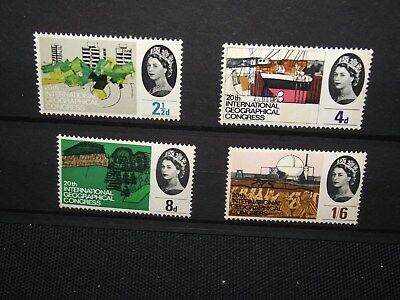 GB 1964 geographical phosphor set unmounted mint.  cat value £30-