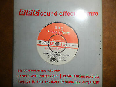 "BBC Sound Effects 7"" Record - Ambulance (Austin Automatic) Exterior (late 60's)"