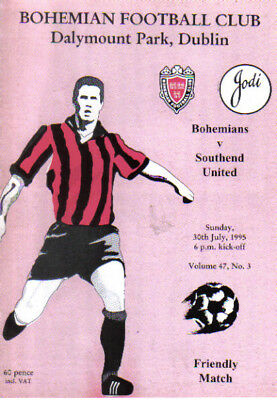 1995  BOHEMIANS FC  v  SOUTHEND  UNITED  (FRIENDLY FIXTURE)