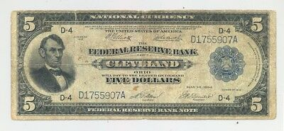 Fr. 787 Cleveland, OH issued $5 Series 1918 Federal Reserve Bank Note