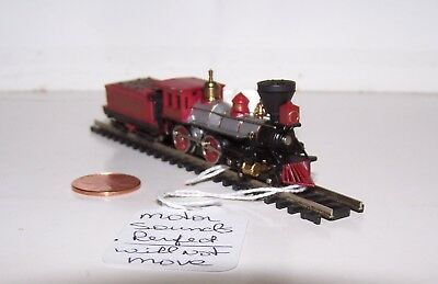 """N Scale 4-4-0 Steam Engine with """"Jupiter"""" Tender Lot S17-63"""