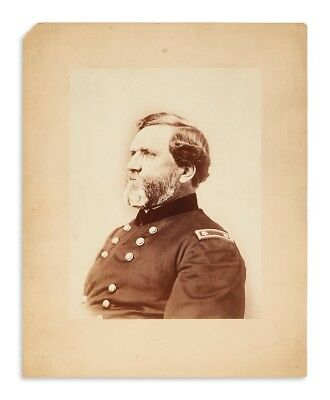 "Gen. George ""Rock of Chickamauga"" Thomas HUGE Civil War Albumen Photo ORIGINAL!"