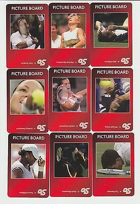 Tennis : complete UK sports game card sub set - red back (10 cards)