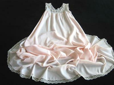 """Vintage Soft Pink Satin Remarque Gown Lacy M NEW Corhan Noumair 104"""" Sweep Hem"""