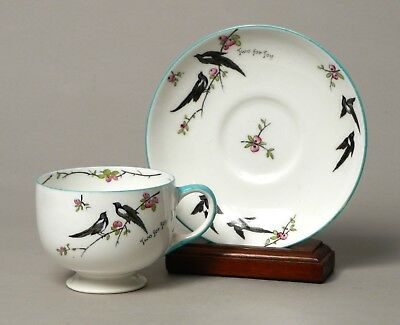 Wonderful Antique Vintage Paragon China Two For Joy Tea Cup Saucer