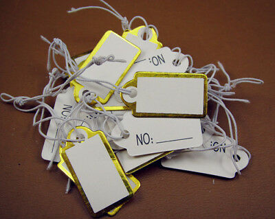 FREE 100PCS Jewelry Price Tags Wholesale Jeweler Store Display String Reseller
