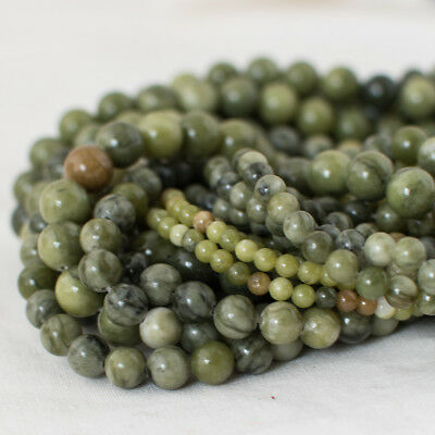 High Quality Grade A Natural Green Jade Gemstone Round Beads - 4mm 6mm 8mm 10mm