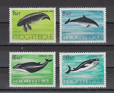 Timbre Stamp 4 Mozambique Y&t#1037-40 Baleine Dauphin Neuf**/mnh-Mint 1986 ~A55
