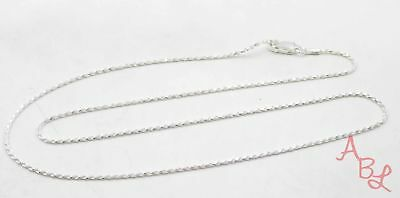 Sterling Silver Vintage 925 Rope Chain Necklace 18'' (2.5g) - 573174