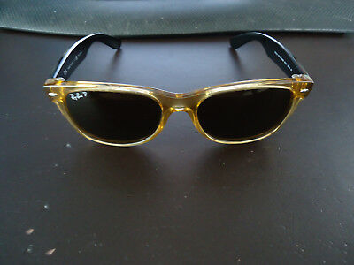 Ray-Ban Amber Frames & Black Arms Made in Italy RB 2132 945/57 55 18 3P