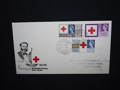 GB first day cover 1963 red cross centenary.