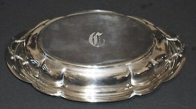 WALLACE STERLING SILVER MAIN COURSE COVERED SERVING DISH No. 212 Monogram C