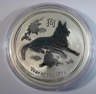 "2018 Silver Australian ""Year of the Dog"" 1 oz. Perth Mint Lunar Coin NEW RELEAS"