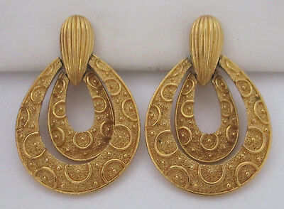 Vintage Dangling Goldtone Earrings Trifari
