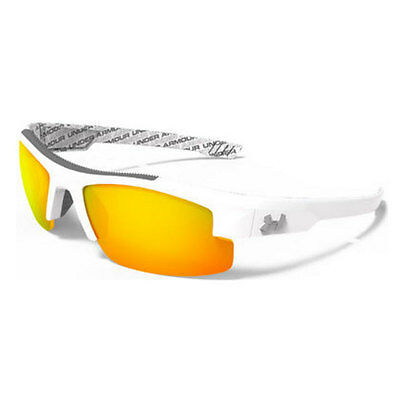 Under Armour *youth Nitro L Sunglasses Shiny White Frame Orange Multi Lens 18277