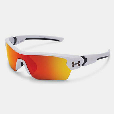 Under Armour *youth* Menace Sunglasses Satin White Frame Orange Multi Lens 18274