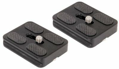 SET OF 2 Replacement Quick Release Plates for the Benro A0350Q0T MeFoto