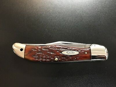 Vintage Case XX 6265 Red Bone Folding Hunter Rare Old Folding Knives
