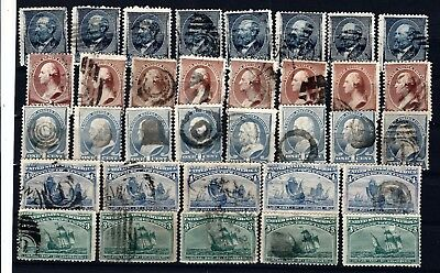 B29 USA stamps classic collection duplication consignment lot 1870s- banknotes