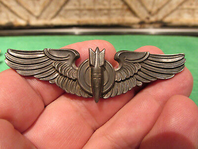 WW2 Army Air Corps Aircraft Pilots Wings Bomber Insignia Marked Amico Sterling