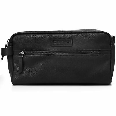 AlpineSwiss Sedona Toiletry Bag Genuine Leather Shaving Kit Dopp Kit Travel  Case d3c41b0cea