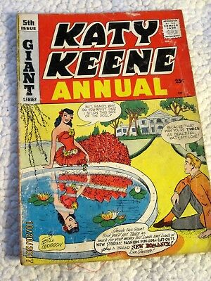 Katy Keene Annual # 5, 72 pgs, paper dolls, 1958 Good minus