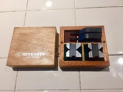MITUTOYO V-BLOCKS NO. 181-901 With Case, Machinist Tools