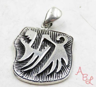 Sterling Silver Vintage 925 Navajo Howling Wolf Dangle Pendant (7.6g) - 575093